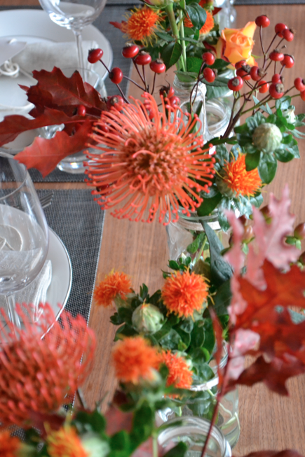 Carrot soup with crisped chickpeas & pumpkin seeds