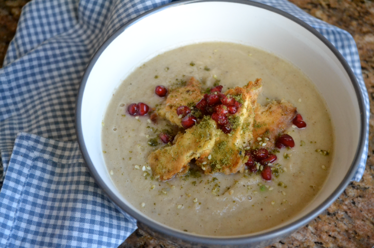 Roast Cauliflower Soup with Pomegranate and Za'atar