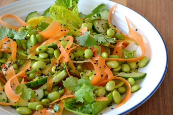 Asian Salad with Avocado, Carrot & Edamame