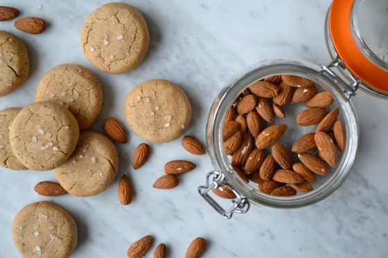 Almond butter biscuits with sea salt